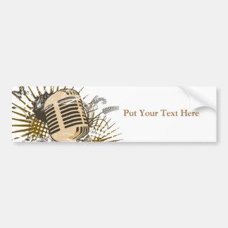 Retro Microphone Bumper Stickers