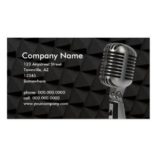 retro microphone Double-Sided standard business cards (Pack of 100)