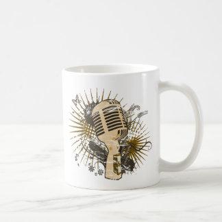 Retro Microphone Classic White Coffee Mug