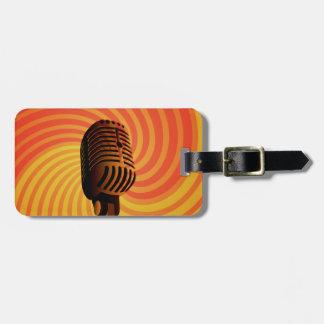 Retro Microphone custom luggage tag