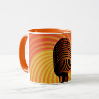 Retro Microphone custom mug - choose style