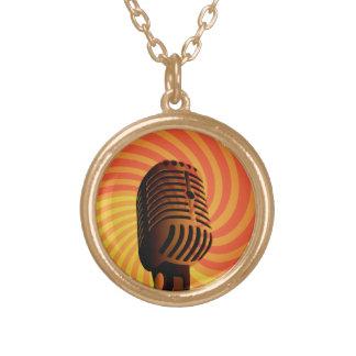 Retro Microphone custom necklace
