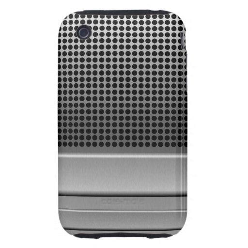 Retro Microphone Design iPhone 3 Tough Cover