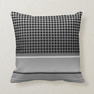 Retro Microphone Design Throw Pillow