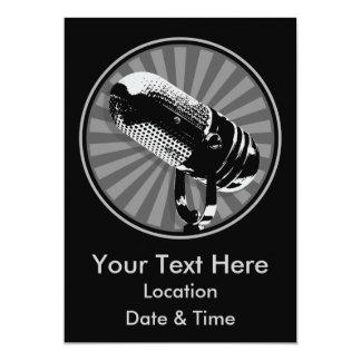 Retro Microphone Graphic Card