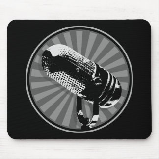 Retro Microphone Graphic Mouse Pad