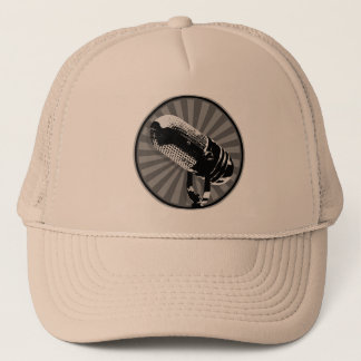 Retro Microphone Graphic Trucker Hat