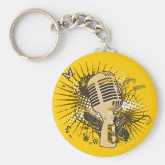 Retro Microphone Keychain