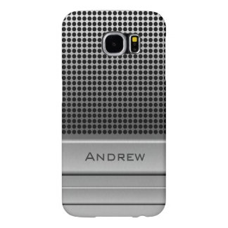 Retro Microphone Name Template Samsung Galaxy S6 Case