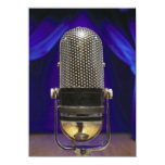 Retro Microphone & Stage Curtains Announcement