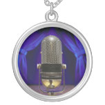 Retro Microphone & Stage Curtains Necklaces