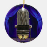 Retro Microphone & Stage Curtains Christmas Ornaments