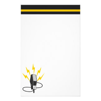 Retro Microphone Stationery