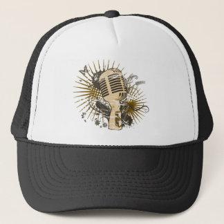 Retro Microphone Trucker Hat