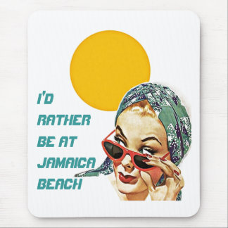 Retro Mid-Century Beach Fashions Swimwear ANYWORDS Mouse Pad