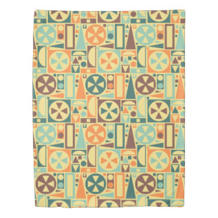 Retro Mid-century Modern Geometric 1950s Cool Duvet Cover at Zazzle