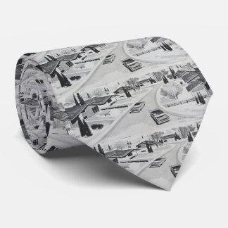 Retro Mid-century Modern Motif Tie