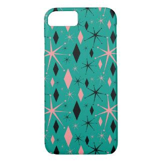 Retro Mid Century Starburst and Diamonds iPhone 7 Case