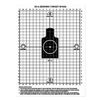 Retro Military Weapons  M-16 Shooting Target Postcard