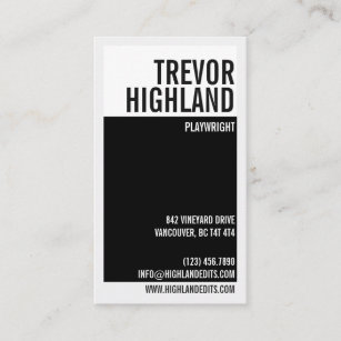 Retro business cards 19500 retro business card templates retro minimalist geometric split black business card reheart Image collections