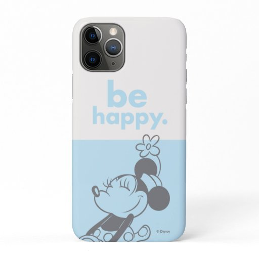 Retro Minnie Mouse - Be Happy iPhone 11 Pro Case