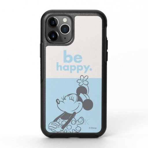 Retro Minnie Mouse - Be Happy OtterBox Symmetry iPhone 11 Pro Case