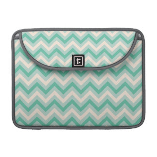 Retro Mint Green Chevron Stripes Sleeve For MacBook Pro