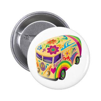 Retro Minvan Pinback Button