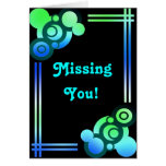 Retro Missing You Card