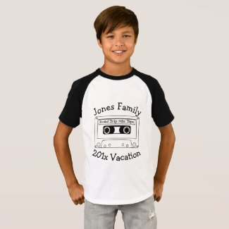 Retro Mix Tape Family Vacation T-shirt