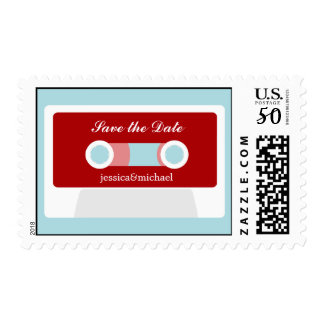 Retro Mixtape Engagement Postage