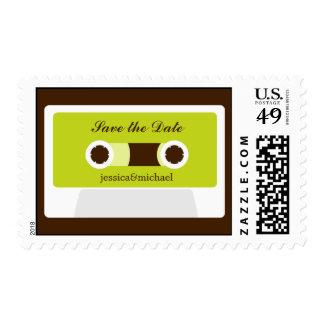 Retro Mixtape Engagement Postage Stamp