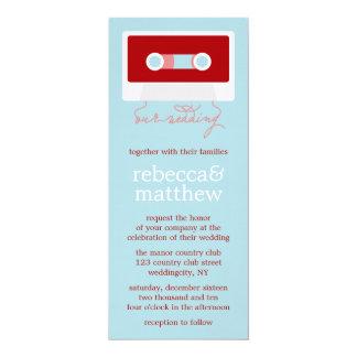 Retro Mixtape Wedding Card