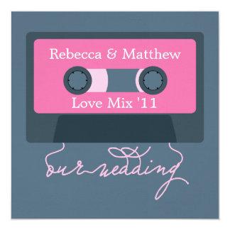 Retro Mixtape Wedding Custom Invitations