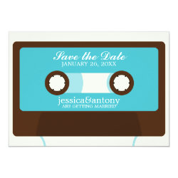 Retro Mixtape Wedding Save the Date Card