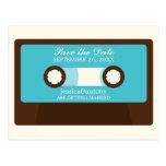 Retro Mixtape Wedding Save the Date Post Cards