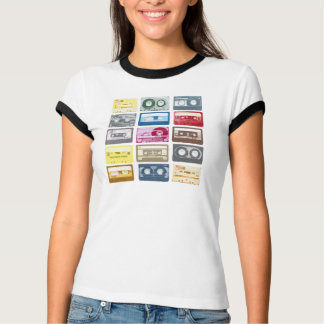 Retro Mixtapes Print Apparel Tee Shirts