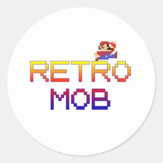 Retro Mob Classic Round Sticker