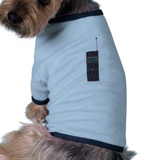 Retro Mobile phone Dog T Shirt