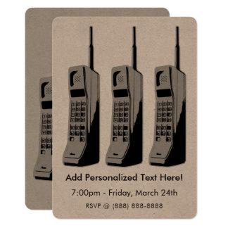 Retro Mobile Phone Graphic Card