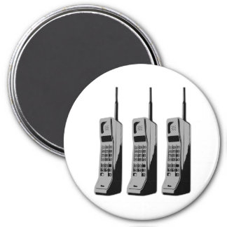 Retro Mobile Phone Graphic Magnet