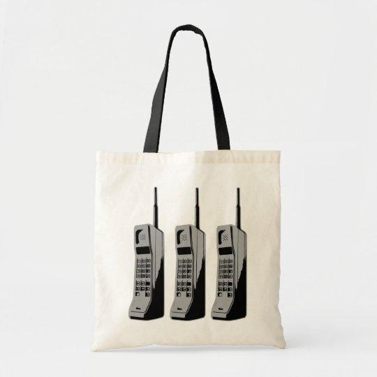 Retro Mobile Phone Graphic Tote Bag