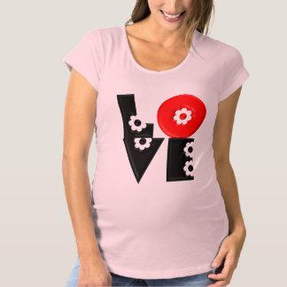 Retro Mod 3D Flowered LOVE Maternity T-Shirt