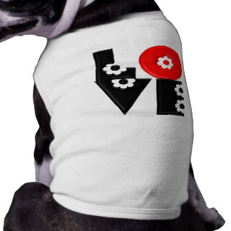 Retro Mod 3D Flowered LOVE Pet T-shirt