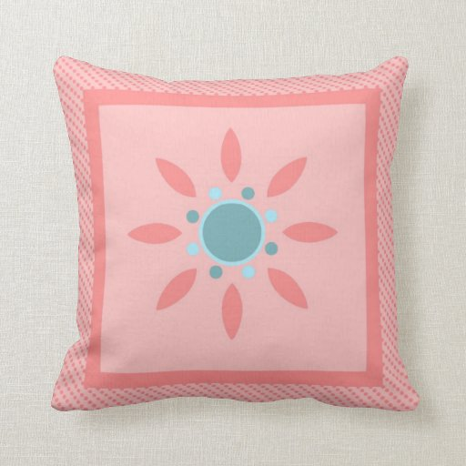 Retro Mod Abstract Pastel Floral Pillows