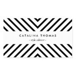 Retro Mod Black and White Pattern Double-Sided Standard Business Cards (Pack Of 100)