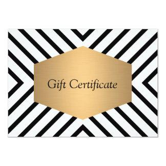 Retro Mod Black and White Pattern Gift Certificate 4.5x6.25 Paper Invitation Card