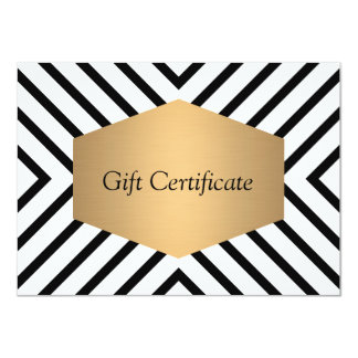 Retro Mod Black and White Pattern Gift Certificate Card