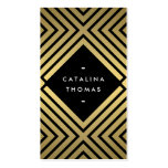 Retro Mod Bold Black and Gold Pattern Double-Sided Standard Business Cards (Pack Of 100)