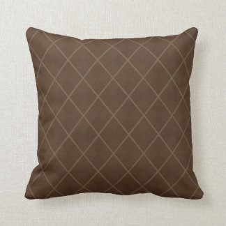 Retro Mod Brown Argyle Throw Pillow